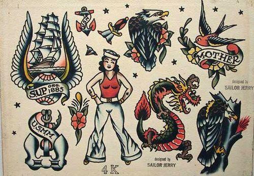 Old School Sailor Jerry Tattoo